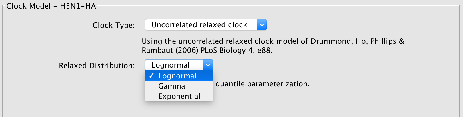 relaxed clock distributions