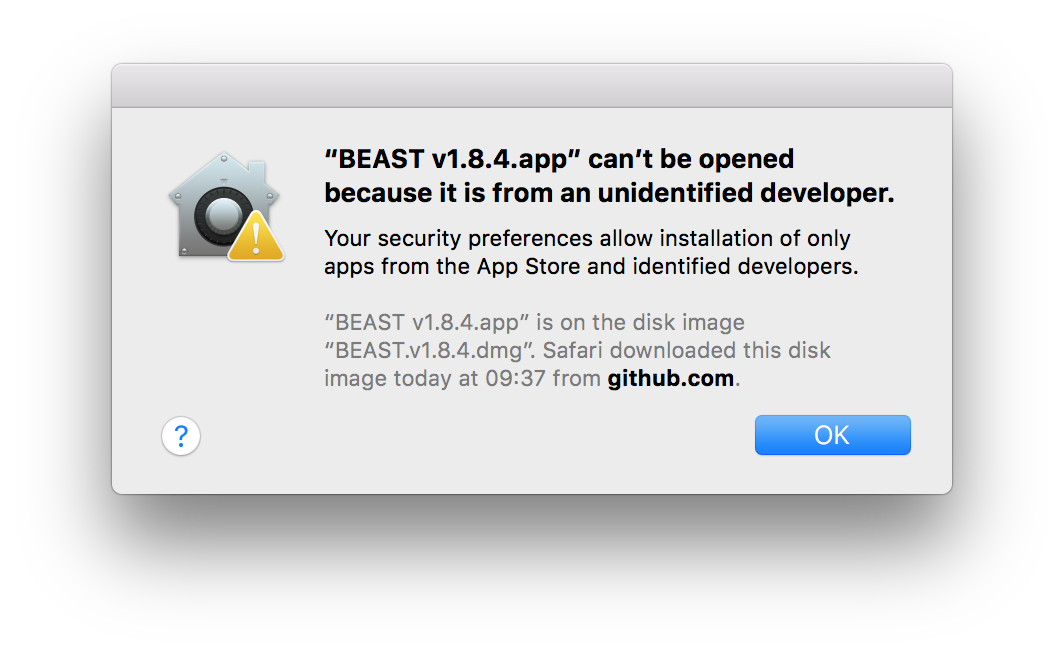 Installing BEAST on Mac OS X | BEAST Documentation