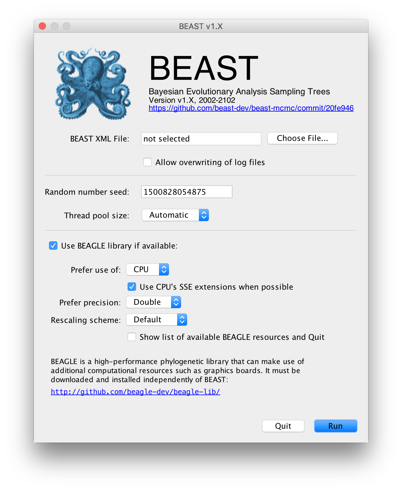 First Tutorial | BEAST Documentation