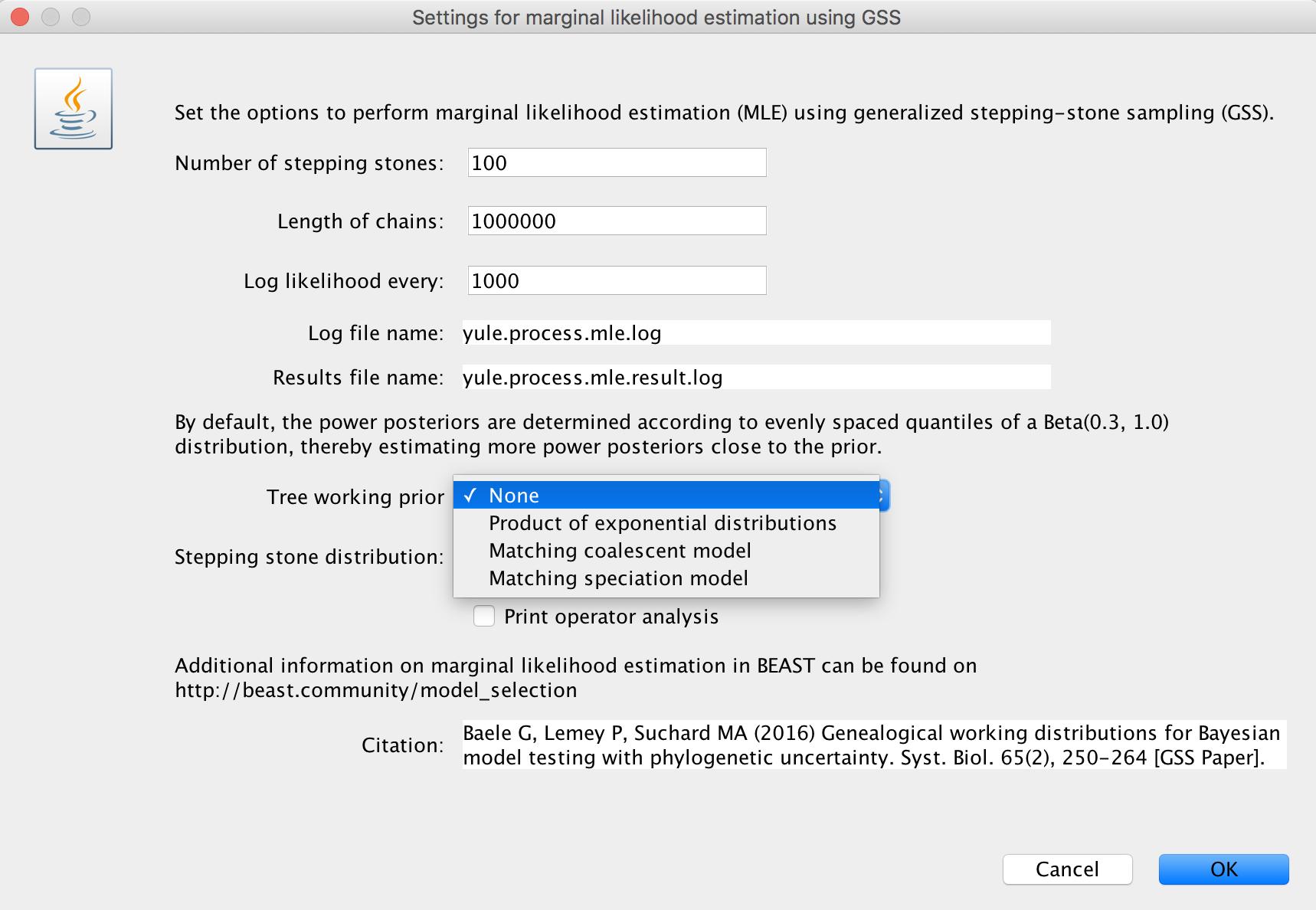 Model Selection Advanced Tutorial | BEAST Documentation